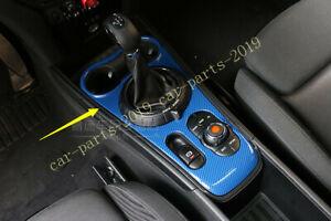 Blue Carbon Fiber Interior Gear Shift Box Panel For Mini Cooper Countryman F60