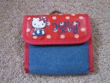 Hello Kitty denim et rouge Wallet Purse