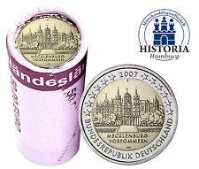 25 x 2 Euro Deutschland 2007 bfr.Schloss Schwerin Mzz. F in Rolle