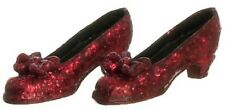Red Glitter Shoes, Dolls House Miniatures, Clothing Accessory, 1.12 Scale