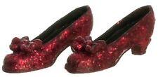 Red Glitter Scarpe, DOLLS HOUSE miniature abbigliamento, accessori, scala 1.12