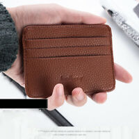 PU Leather Slim Wallet Thin Credit Card Holder ID Case Pocket Purse Bag 7 Colors