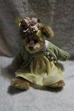 bearington bears-sweater and dress-good used condition-flowers on head