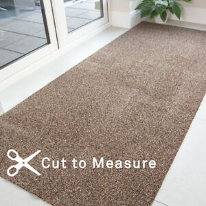 Long Brown Non Slip Runner Rug Washable Entrance Mat Cut To Measure Hall Runners