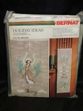 Vintage Bernat Christmas Angel Cross Stitch Kit Joy To the World Wall Hanging