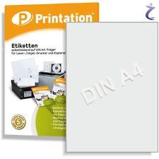 Printation Etiketten 210 X 297 Mm selbstklebend weiß - / 10 A4 Blätter 1x1...