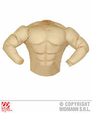 Super Muskel Shirt Herren Kostüm Fasching Karneval Muskelprotz Muskeln NEU