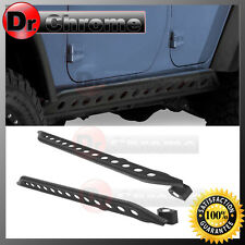 Jeep JK 07-16 Wrangler 4 Door Black Rock Crawler Side Slider Armor Rocker Guards