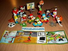 MICKEY MOUSE & FRIENDS COMPLETE SET WITH ALL PAPERS KINDER SURPRISE 2014