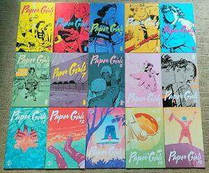 Paper Girls #1 - #15 - 3 Arc Set NM Brian K. Vaughan Cliff Chiang Image Comics