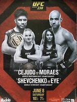UFC 238 Cejudo VS Moraes Official Fight Poster 18x24 *ORIGINAL PRINT* *NEW*