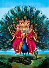 Murugan by Raja Ravi Varma, Indian, Hindu, India Art Poster, Museum Canvas Print