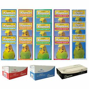 Kagesan Bird Cage Sandsheets Sand Paper Sanded Sheets Hygienic Bulk Pack 5 Sizes