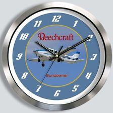 BEECHCRAFT C23 SUNDOWNER METAL WALL CLOCK Beech 23