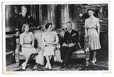 King George VI & Family inc Princess Elizabeth RP PPC, Unposted, by Tuck