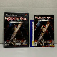 Resident Evil Outbreak File 2 (Sony Playstation 2, 2005) COMPLETE! TESTED! CLEAN