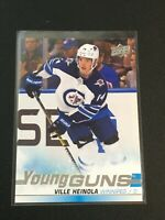 F60235  2019-20 Upper Deck #204 Ville Heinola YG RC JETS YOUNG GUNS