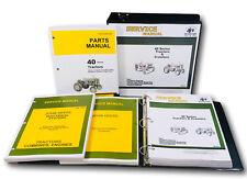 Service Parts Manual Set For John Deere 40 Tractor & Crawler Dozer Repair Books