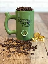 Premium Roast And Toast Ceramic Mug - All In One Coffee Cup And Smoking Pipe