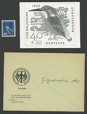 BRD FOTO-ESSAY 404 VÖGEL 1963 EISVOGEL KINGFISHER PHOTO-ESSAY PROOF RARE!! e679