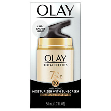 OLAY TOTAL EFFECTS 7 IN ONE MOISTURIZER WITH SUNSCREEN SPF-30 1.7-OZ EXP 02/21