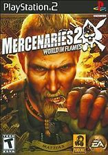 Mercenaries II - World in Flames - PS2 (with manual and case)