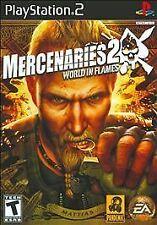 Mercenaries 2: World in Flames (Sony PlayStation 2, 2008) MINT