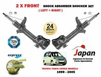 FOR TOYOTA YARIS VERSO / FUN CARGO 1999-2005 NEW 2x FRONT SHOCK ABSORBER SET