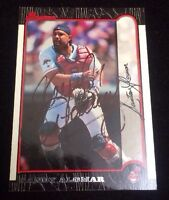 SANDY ALOMAR 1999 TOPPS BOWMAN  Autographed Signed AUTO Baseball Card 4 INDIANS