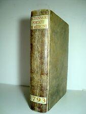 """""""Dictionnaire portatif de médecine"""", Lavoisien -  Barrois le jeune, Paris, 1793"""