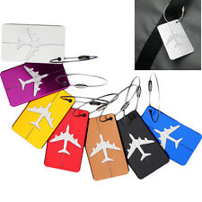 Aluminium Fashion Travel Suitcase Luggage Tags Labels Baggage Address Card Case