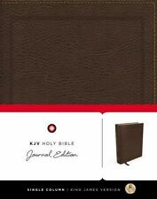 Thomas Nelson KJV Holy Bible Journal Edition-2016 Brown Bonded Imitation Leather