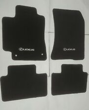 Fit 01-05 Lexus IS300 Black Nylon Floor Mats Carpet W/ Emblem
