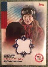 2013 Topps Winter Olympics Kelly Clark Athlete-worn Memorabilia Relic