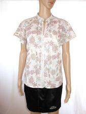 BIAGGINI Womens Vtg Secretary Floral Embellish Casual Mandarin Blouse sz 18 AE21