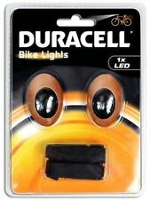Bicycle Lights Rear and Front 2 LED Duracell Bike Cycle Night Safety Light