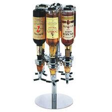 Spirits Rotary 6 Bottle Stand Drinks Optics Dispenser Wine Champagne Bar Butler
