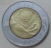 MONETE REPUBBLICA ITALIANA 500 LIRE IFAD 1998