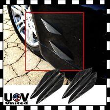 4 x Carbon Fiber Pattern Bumper Lip Fins Canards Splitters Valence Chin Diffuser
