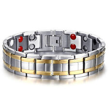 Hottime Stainless Steel Magnetic Far Therapy Negative Lon Bracelets Pain Relief
