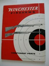 Original ! c-1962 Winchester Firearms Component Parts Catalog Rifles Shotguns