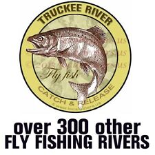 Truckee River Fly Fish Catch & Release Sticker Decal GUARANTEE 3 years no fade