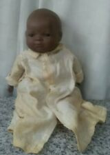 Vintage 1982  Bisque and Cloth Black Bye-Lo Baby Doll