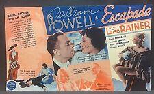 1935 movie herald:.....ESCAPADE....William Powell, Luise Rainer, Frank Morgan