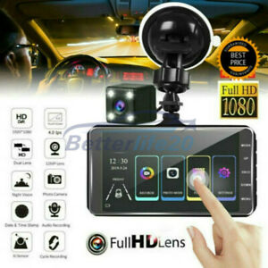 170° Car DVR Dash Cam Front and Rear Dual Lens Camera FHD 1080P Video Recorder