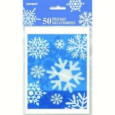 50 Snowflake Treat Favour Loot Bags/Xmas Gift Bags/Xmas Party Goody Bags!!
