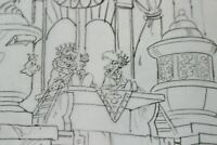 ALF Pencil Cleanup Animation Coloring Book Disney Artist ROY WILSON 1988 Vintage