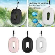 USB Necklace Air Purifier Mini Wearable Negative Ion Generator 20db Noise