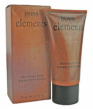 HUGO BOSS 75ML BOSS ELEMENTS AFTER SHAVE BALM RARITÄT NEU OVP