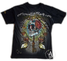 EMPEROR ETERNITY  T-Shirt old style Tattoo  STRASS Mexican Skull style Ed Hardy